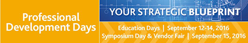 Professional Development Days (PDD) 2016 - September 12-15, 2016 at St. Paul RiverCentre