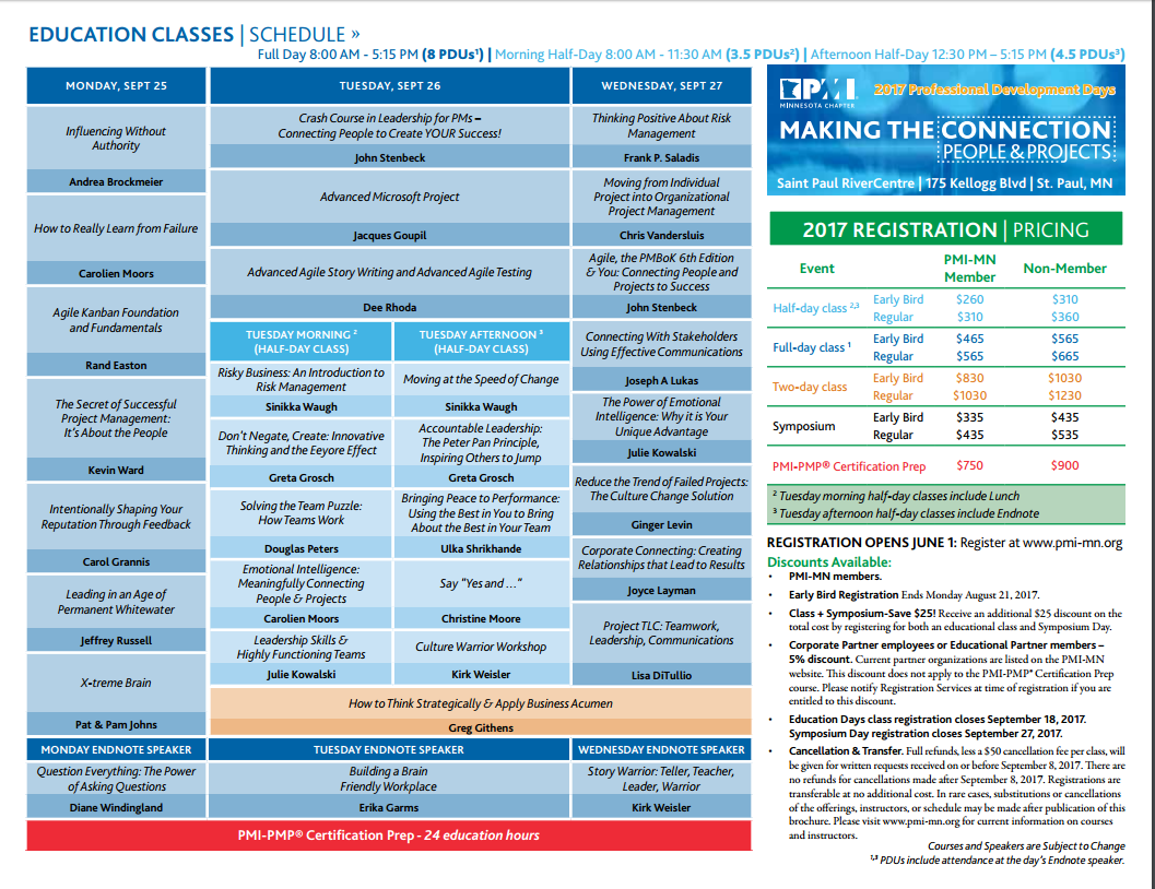 Professional development days 2017 minnesota chapter of pmi view pdf 1betcityfo Image collections